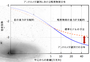 図2. 暗黒物質の密度分布